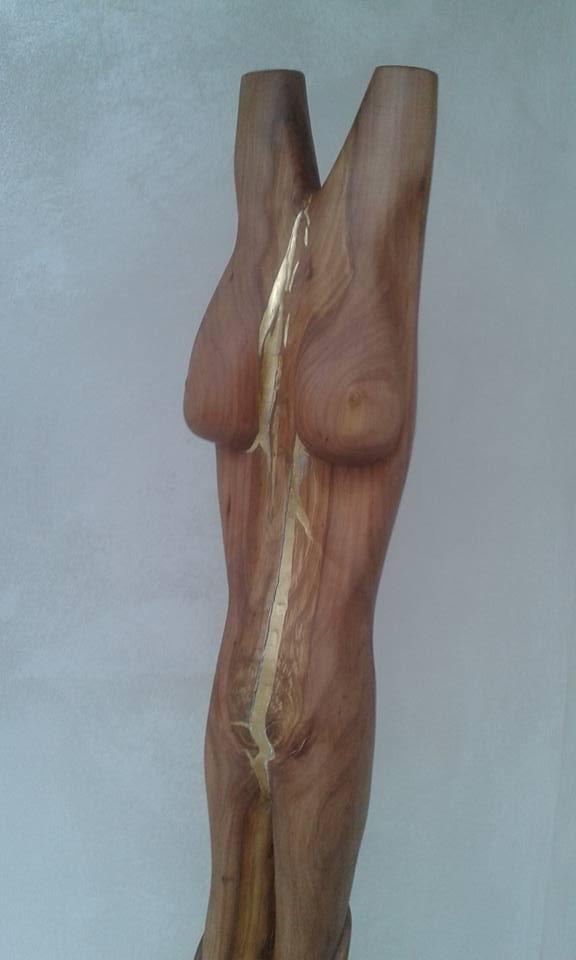 Kettensägenkunst Holz Skulptur